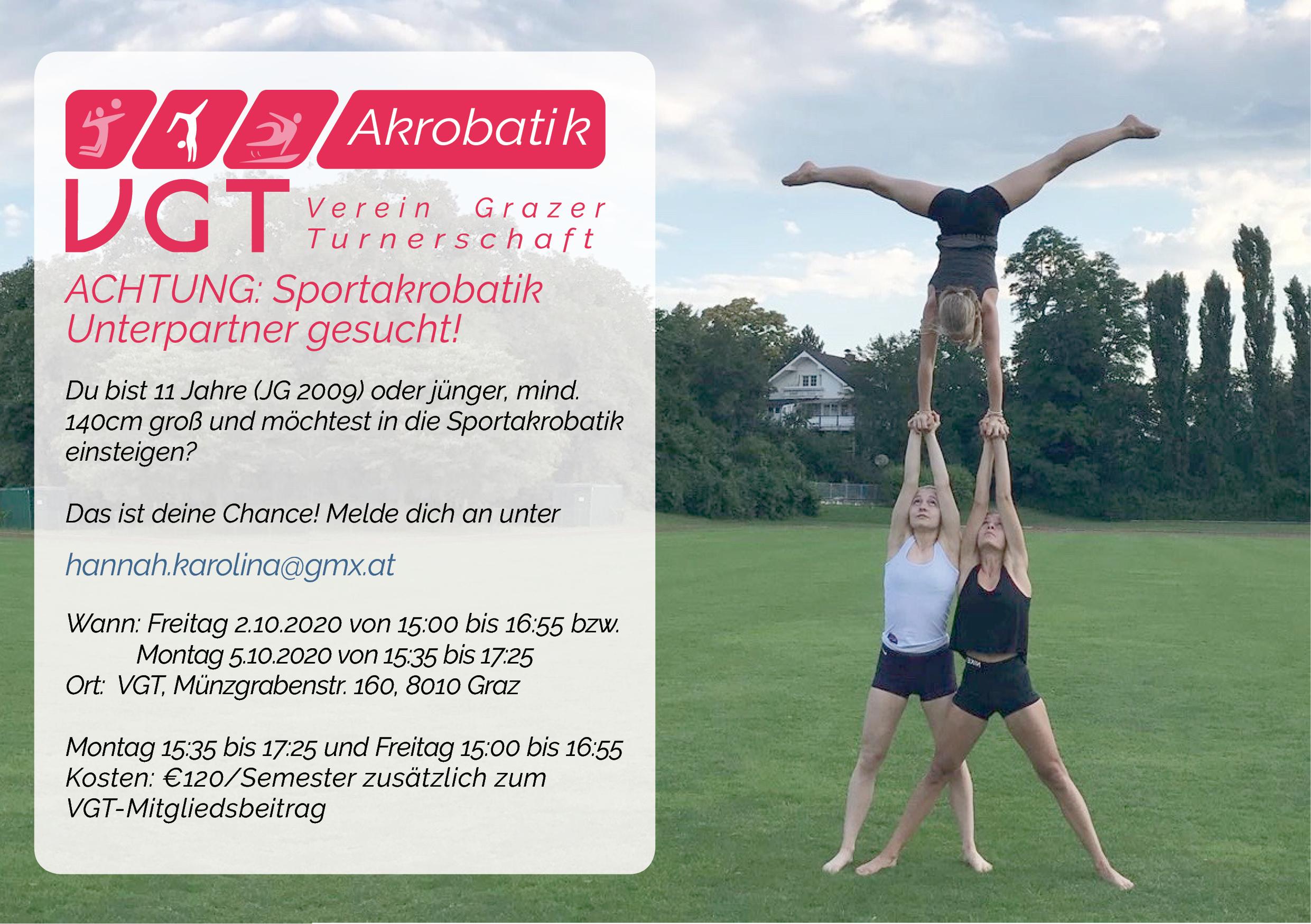 ACHTUNG: Sportakrobatik  Unterpartner gesucht!