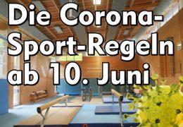 Sport-Regeln ab 10. Juni 2021